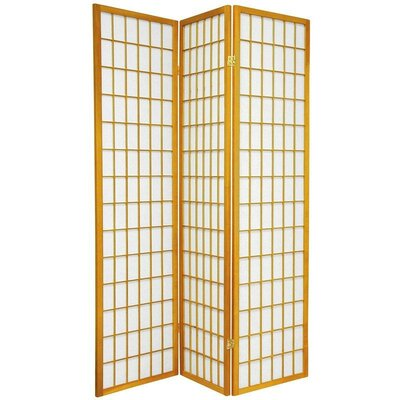 Oriental Furniture Window Pane Room Divider in Honey | Wayfair