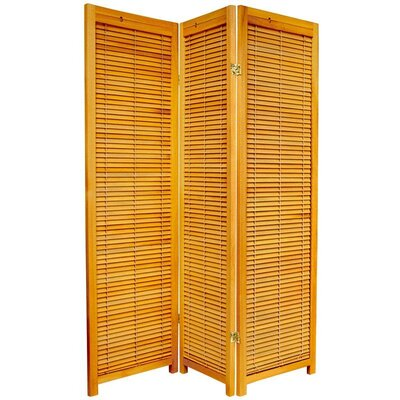 Wooden Shutter Room Divider in Honey