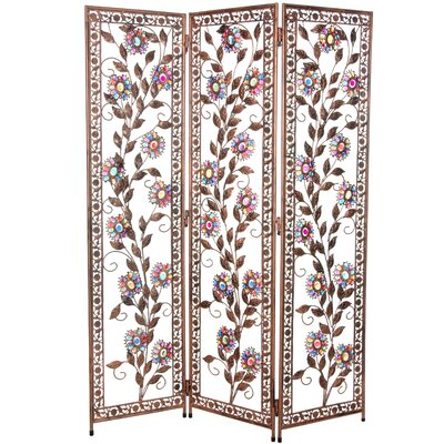 Woodland Imports Wood Metal Room Divider | Wayfair