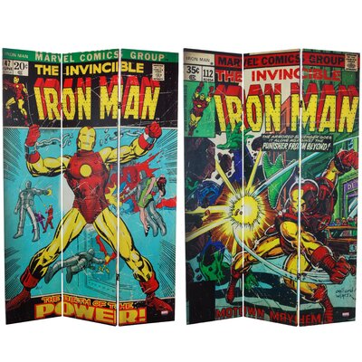 "71"" x 47.25"" Tall Double Sided The Invincible Iron Man 3 Panel Room Divider CAN-RM-IM2"