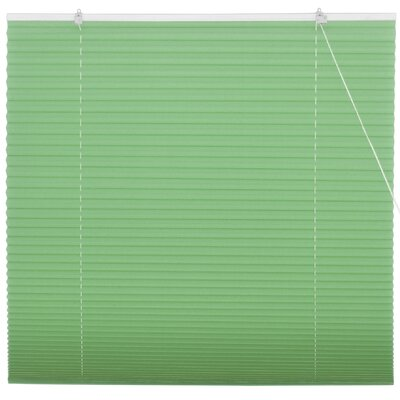 Retractable Pleated Shade Size: 72 W x 72 L, Color: Jade Green
