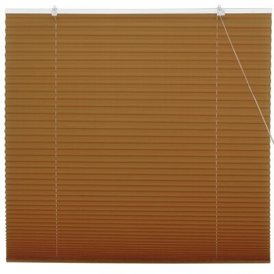 Retractable Pleated Shade Size: 48 W x 72 L, Color: Coffee