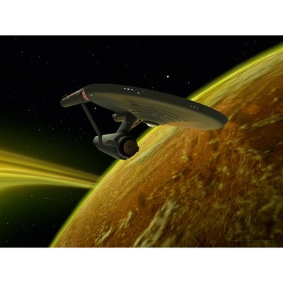 Star Trek Star Ship Enterprise Graphic Art on Canvas CAN-ART-CST-7