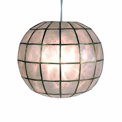 Nolan Princess Capiz 1-Light Hanging Pendant