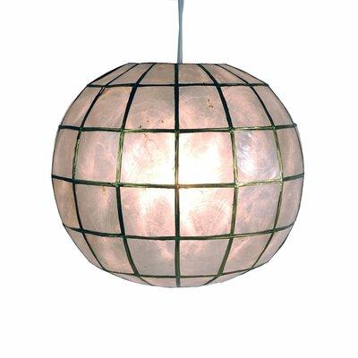 Princess Capiz 1-Light Hanging Pendant