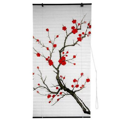 Blossom Shoji Rice Paper Roller Blind Size: 48 W x 72 L