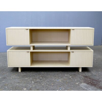 Tiers 60 TV Stand Size: 16, Color: Mustard Yellow
