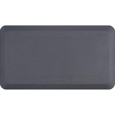 Kada Stain Resistant Kitchen Mat Color: Gray