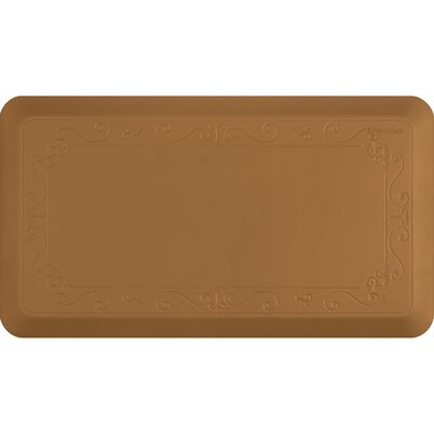 Fleur-De-Lys Series Kitchen Mat Size: 36 H x 20 W, Color: Tan