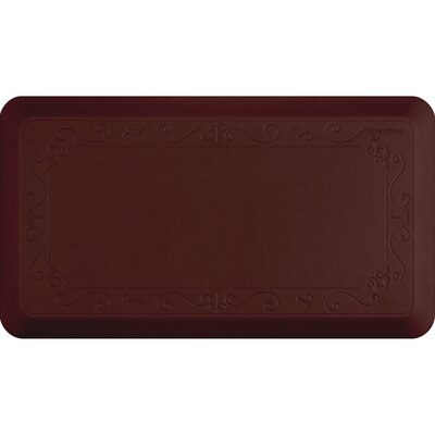 Fleur-De-Lys Series Kitchen Mat Size: 36 H x 20 W, Color: Burgundy