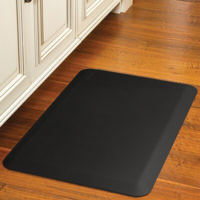 Suede Kitchen Mat Color: Charcoal, Mat Size: Rectangle 18 x 56