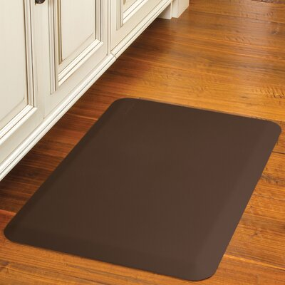 Suede Kitchen Mat Color: Cocoa, Rug Size: Rectangle 18 x 56