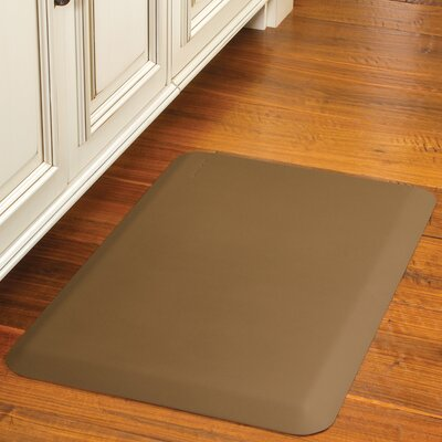 Suede Kitchen Mat Color: Honey, Rug Size: 18 x 56