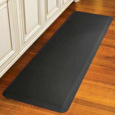 Suede Kitchen Mat Color: Charcoal, Rug Size: Rectangle 18 x 28