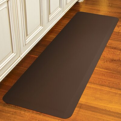 Suede Kitchen Mat Color: Cocoa, Mat Size: Rectangle 18 x 28