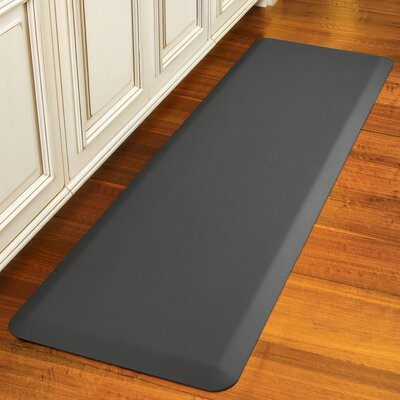 Suede Kitchen Mat Color: Earl Gray, Mat Size: Rectangle 18 x 28