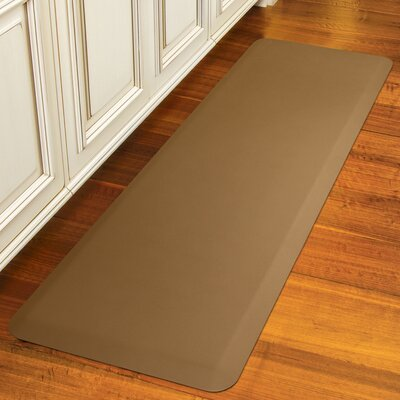 Suede Kitchen Mat Color: Honey, Mat Size: Rectangle 18 x 28