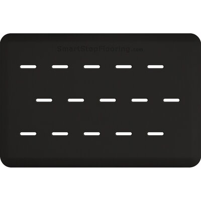 Solid Rectangle Utility Mat Color: Black, Rug Size: Rectangle 3 x 2