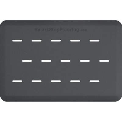 Solid Rectangle Utility Mat Color: Gray, Mat Size: Rectangle 3 x 2