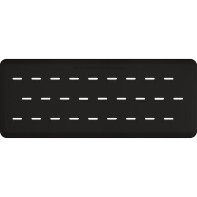 Solid Rectangle Utility Mat Color: Black, Mat Size: Rectangle 5 x 3