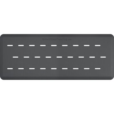 Solid Rectangle Utility Mat Color: Gray, Mat Size: Rectangle 5 x 2