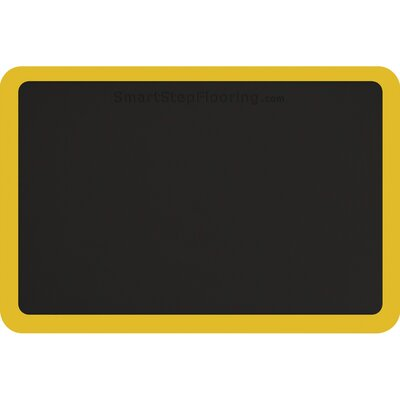 Contour Rectangle Utility Mat Color: Black/Yellow