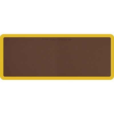 Contour Solid Utility Mat Color: Brown/Yellow, Mat Size: Rectangle 5 x 2