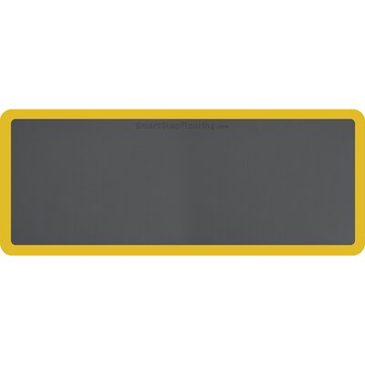 Contour Solid Utility Mat Color: Gray/Yellow, Mat Size: Rectangle 5 x 2