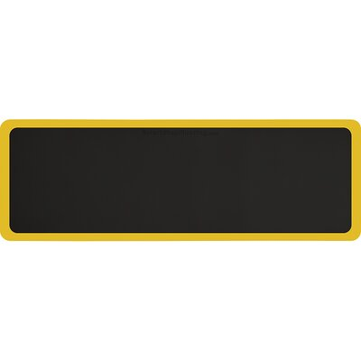 Contour Solid Utility Mat Color: Black/Yellow, Rug Size: Rectangle 6 x 2