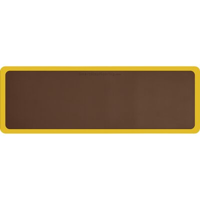 Contour Solid Utility Mat Color: Brown/Yellow, Mat Size: Rectangle 6 x 2