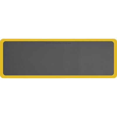 Contour Solid Utility Mat Color: Gray/Yellow, Rug Size: Rectangle 6 x 2
