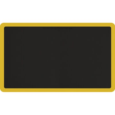 Contour Solid Utility Mat Color: Black/Yellow, Rug Size: Rectangle 5 x 3
