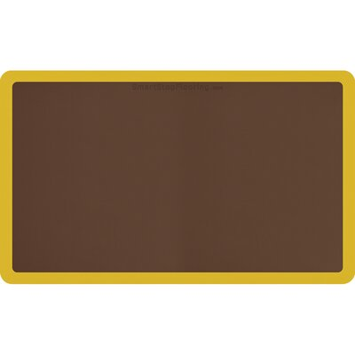 Contour Solid Utility Mat Color: Brown/Yellow, Rug Size: Rectangle 5 x 3