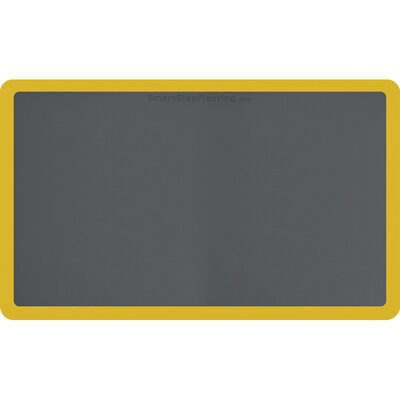 Contour Solid Utility Mat Color: Gray/Yellow, Mat Size: Rectangle 5 x 3