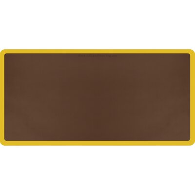 Contour Solid Utility Mat Color: Brown/Yellow, Mat Size: Rectangle 6 x 3