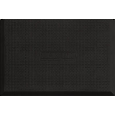 Solid Utility Mat Color: Black, Mat Size: Rectangle 5 x 3