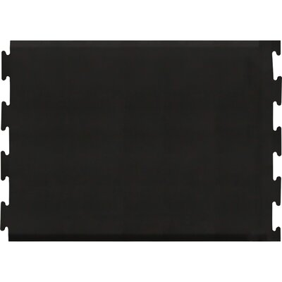 Puzzle Piece Center Utility Mat Color: Black