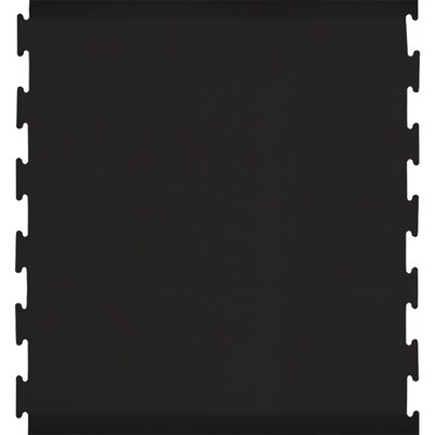 Black Puzzle Piece Center Utility Mat Color: Black, Mat Size: Rectangle 46 x 3