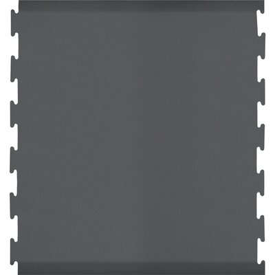 Black Puzzle Piece Center Utility Mat Color: Gray, Rug Size: Rectangle 46 x 3