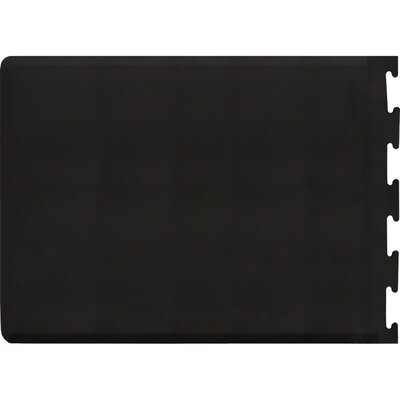 Solid Puzzle Piece Left Utility Mat Color: Black
