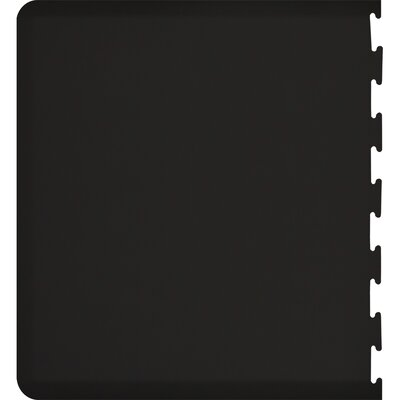 Rectangle Puzzle Piece Left Utility Mat Color: Black, Rug Size: Rectangle 49 x 2