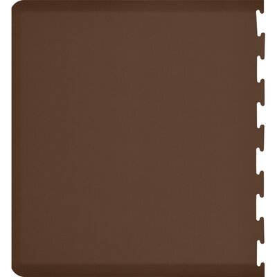 Rectangle Puzzle Piece Left Utility Mat Color: Brown, Mat Size: Rectangle 49 x 3