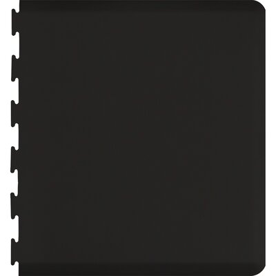 Solid Puzzle Piece Right Utility Mat Color: Black, Mat Size: Rectangle 49 x 3