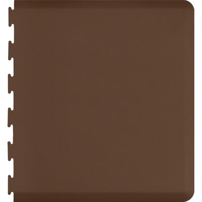 Solid Puzzle Piece Right Utility Mat Color: Brown, Mat Size: Rectangle 49 x 2