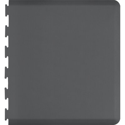 Solid Puzzle Piece Right Utility Mat Color: Gray, Mat Size: Rectangle 49 x 3