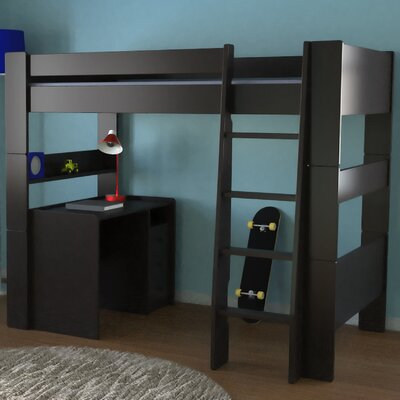 Furniture financing Highsleeper Twin Loft Bed with Buil...