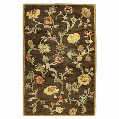 Essex Chocolate Area Rug Rug Size: 39 x 59