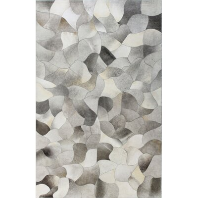 Santa Fe Tuscon Hand Flat Woven Cowhide Gray Area Rug Rug Size: Rectangle 4 x 6