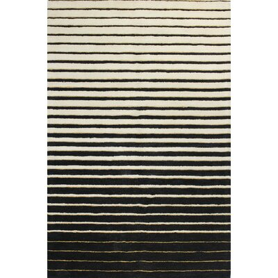 Ashland Ivory & Black Area Rug Rug Size: Rectangle 36 x 56