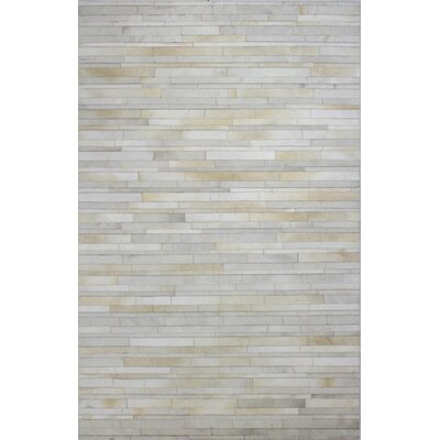Wright Cow Hide Ivory Area Rug Rug Size: 5 x 8